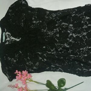 Classy sheer lace top by Maurices